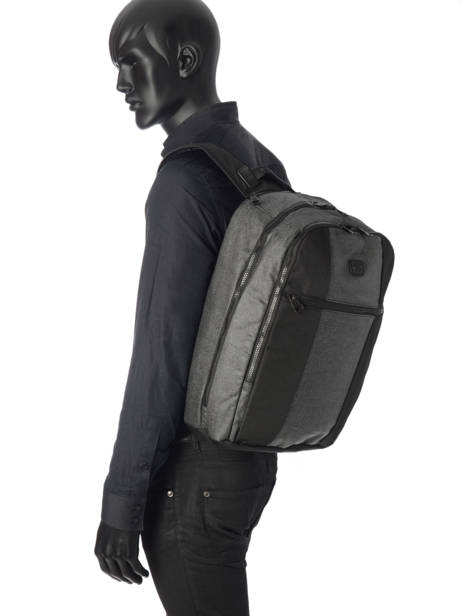 Backpack 2 Compartments + 15'' Pc Serge blanco Black new urban NRB41024 other view 2