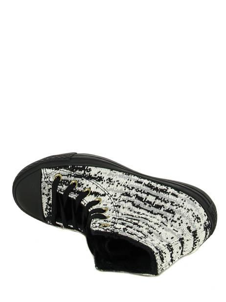 Chuck Taylor All Star Winter Knit Converse Noir baskets mode 553361C vue secondaire 4
