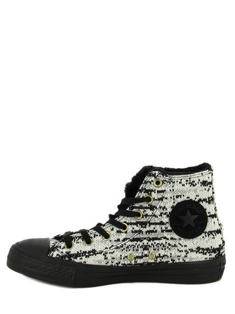 Chuck Taylor All Star Winter Knit Converse Noir baskets mode 553361C vue secondaire 2