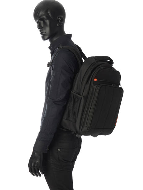 Wheeled Backpack 2 Compartments + 17'' Pc Davidt's Black chase 257047 other view 2