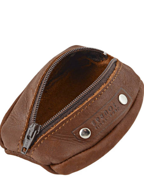 Purse Leather Foures Brown 9229 other view 2