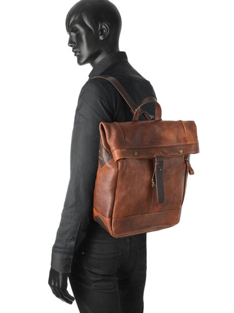 Backpack Chiarugi Brown street 54009 other view 2