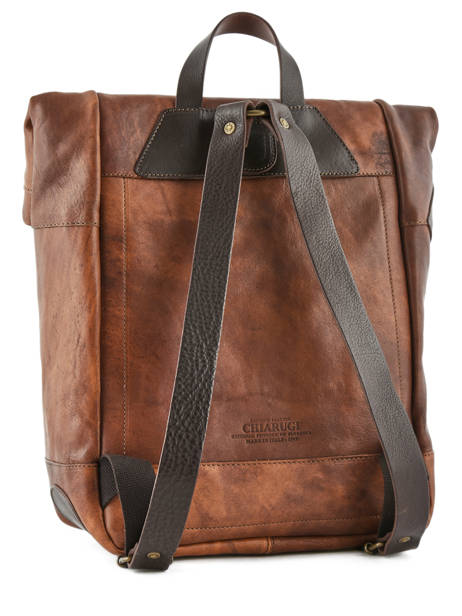 Backpack Chiarugi Brown street 54009 other view 3