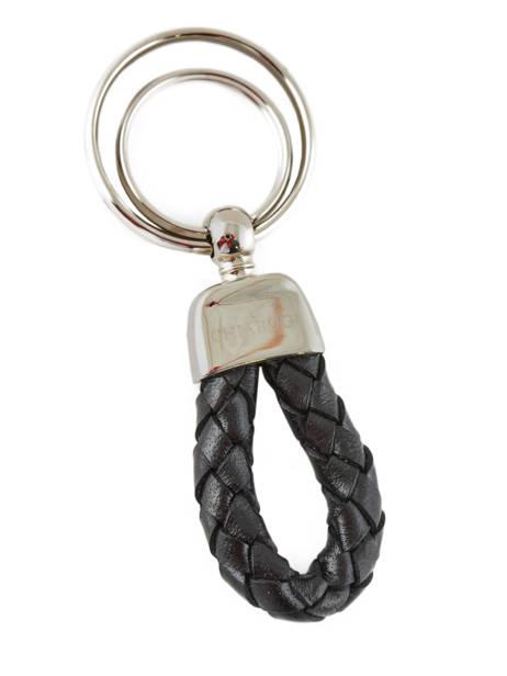 Key Holder Leather Chiarugi Black street 1002