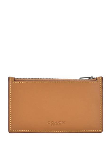 Porte-monnaie Cuir Coach Marron wallet 22879