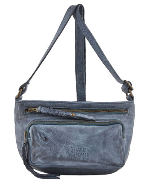 Crossbody Bag Cow Leather Basilic pepper Blue cow BCOW07