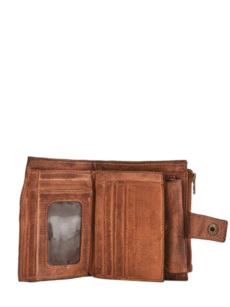 Purse Card Holder Leather Basilic pepper Brown cow BCOW94 other view 2
