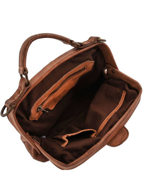Sac Porté Main Cow Cuir Basilic pepper Marron cow BCOW05 vue secondaire 4