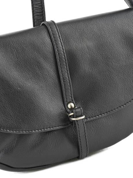 Sac Bandoulière Soft Vintage Cuir Lancaster Noir soft vintage 578-25 vue secondaire 1