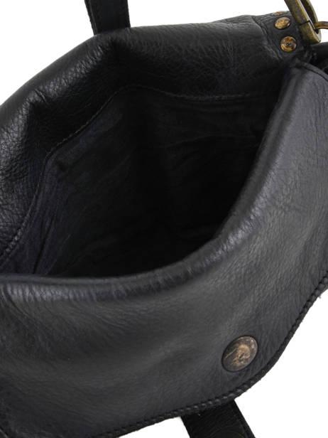 Shoulder Bag Dewashed Leather Milano Black dewashed DE17112 other view 4