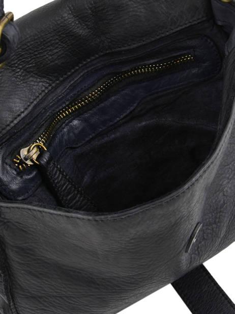 Shoulder Bag Dewashed Leather Milano Black dewashed DE17112 other view 3