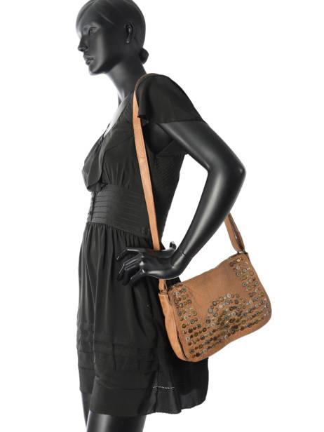 Shoulder Bag Studs Leather Basilic pepper Brown studs BSTU06 other view 2