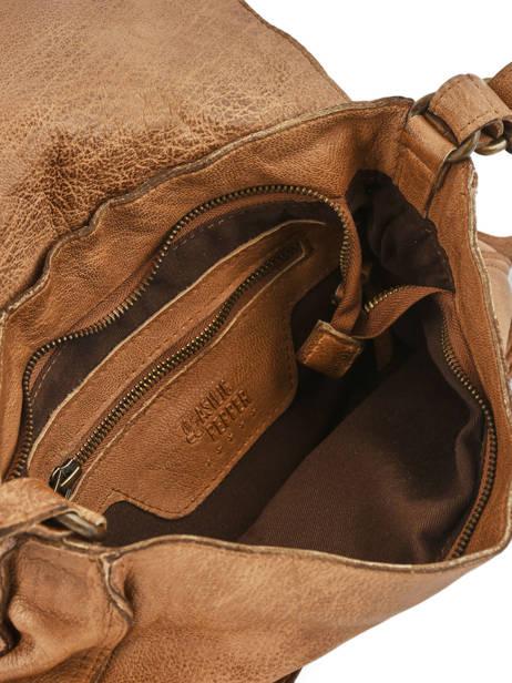 Shoulder Bag Studs Leather Basilic pepper Brown studs BSTU06 other view 5