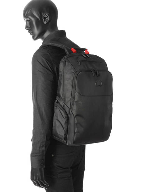 Backpack 2 Compartments Delsey Black parvis + 3944622 other view 2
