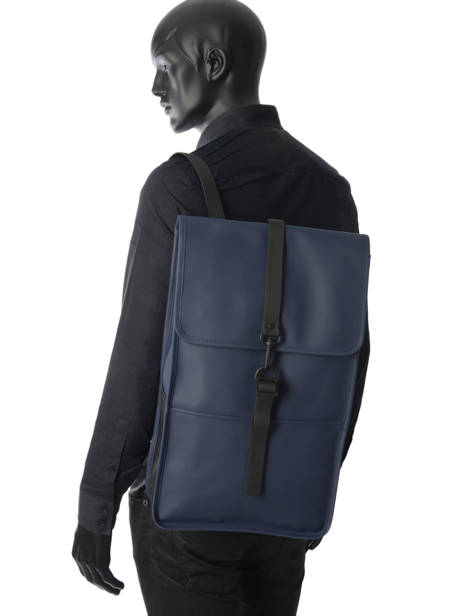 Backpack 1 Compartment + 13'' Pc Rains Blue boston 1220 other view 3