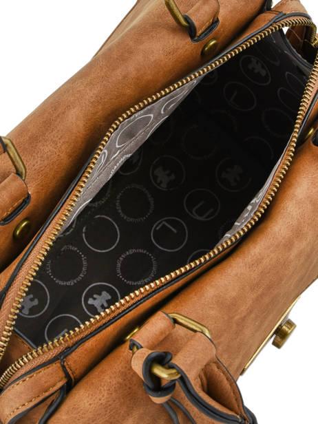 Sac Porté Main Patchwork Lulu castagnette Beige patchwork INASSIO vue secondaire 5