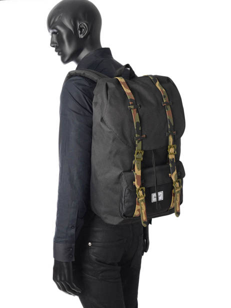 Backpack 1 Compartment + 15'' Pc Herschel Black classics 10014 other view 2