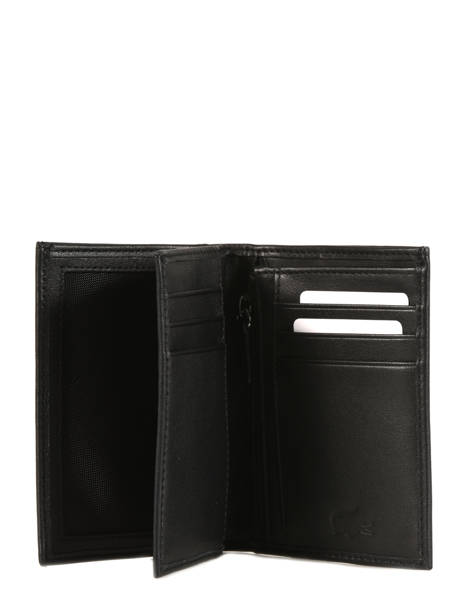 Wallet Leather Lacoste Black crocodile NH2321IL other view 1