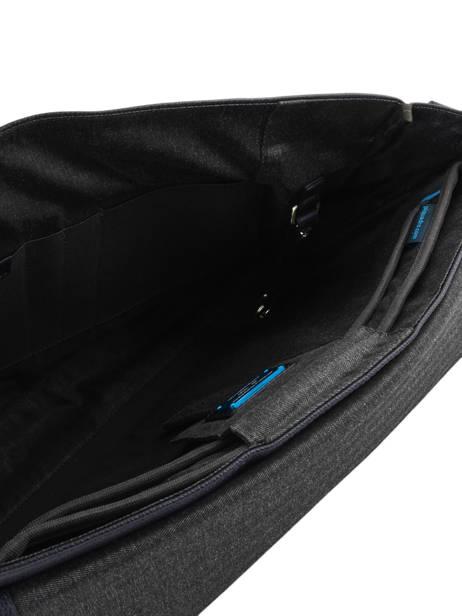 Serviette A4 Erse + Pc 15'' Piquadro Noir erse CA4116S9 vue secondaire 6