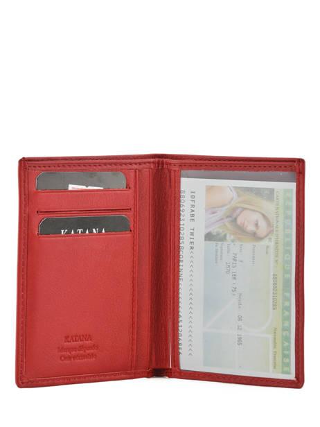 Porte-papiers Cuir Katana Rouge daisy 553090 vue secondaire 2