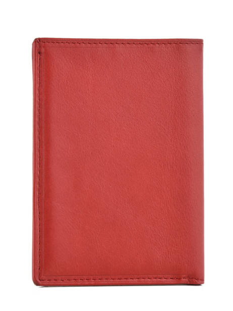 Porte-papiers Cuir Katana Rouge daisy 553090 vue secondaire 1