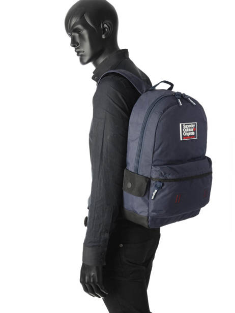 Backpack 1 Compartment Superdry Blue backpack men M91000DQ other view 2