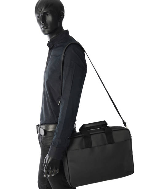 Briefcase 15'' Laptop Lacoste Black men's classic NH2451HC other view 3
