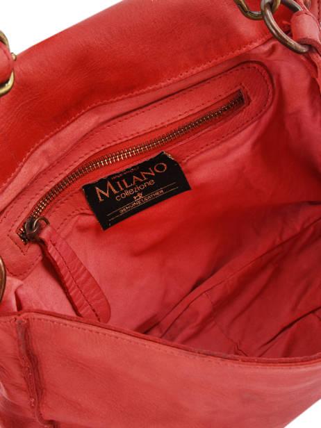 Shoulder Bag Dewashed Leather Milano Red dewashed DE17112 other view 3
