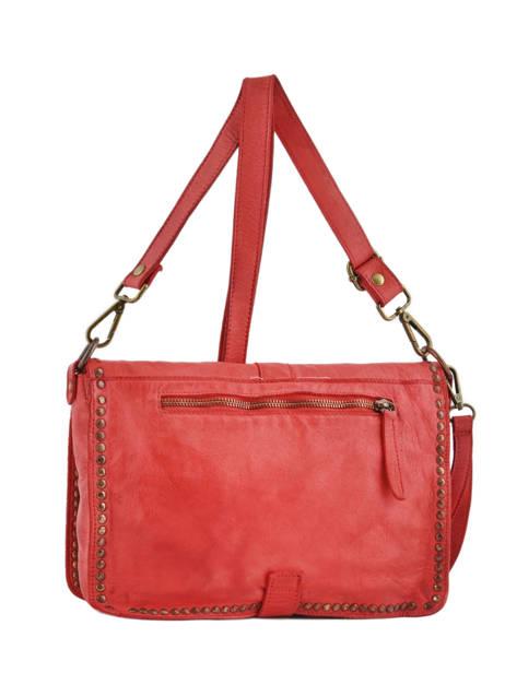 Shoulder Bag Dewashed Leather Milano Red dewashed DE17112 other view 2
