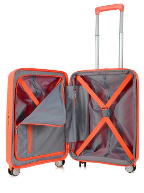 Cabin Luggage American tourister Orange soundbox 32G001 other view 5