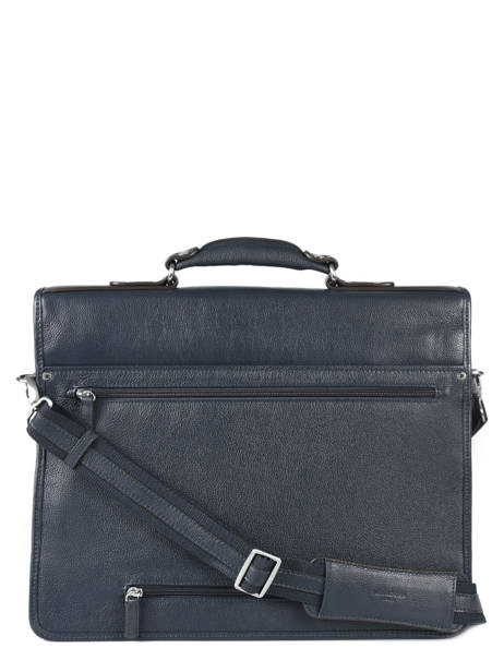 Briefcase 3 Compartments Hexagona Blue confort 469546 other view 2