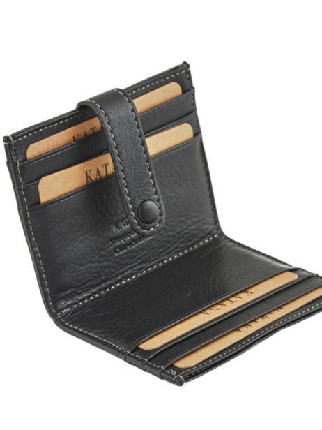 Card Holder Leather Katana Black marina 753130 other view 2