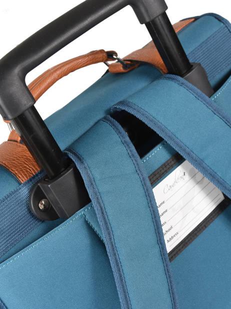 Cartable à Roulettes 2 Compartiments Cameleon Bleu vintage VINCA38R vue secondaire 2