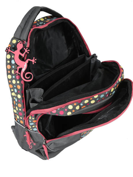 Backpack 2 Compartments Cameleon Pink new basic NBA-BOR other view 5