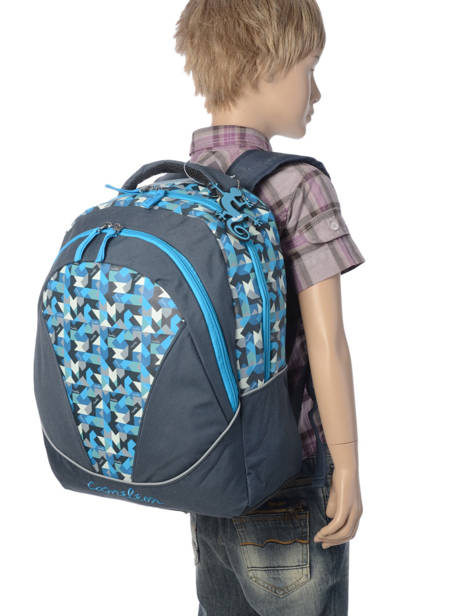 Backpack 2 Compartments Cameleon Blue new basic NBA-BOR other view 2