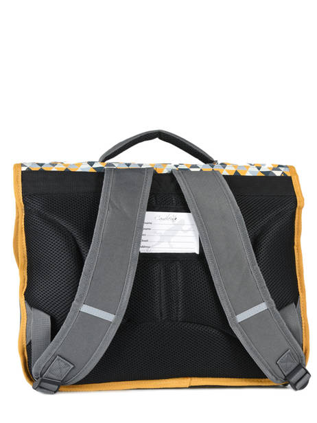 Cartable 2 Compartiments Cameleon Jaune new basic NBA-CA35 vue secondaire 3