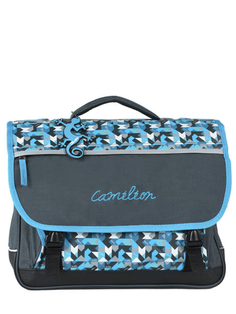 Satchel For Kids 3 Compartments Cameleon Blue new basic NBA-CA41