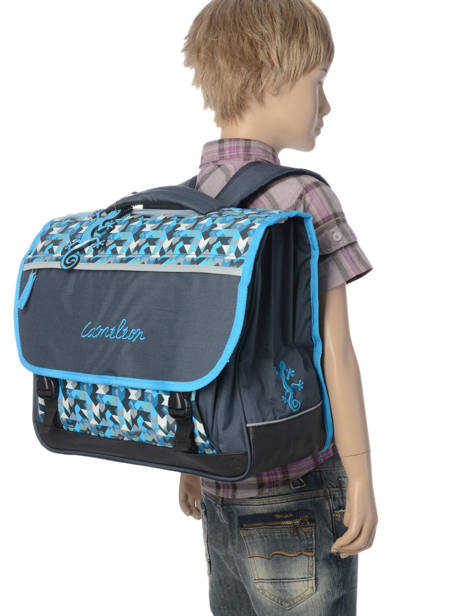 Satchel For Kids 3 Compartments Cameleon Blue new basic NBA-CA41 other view 2