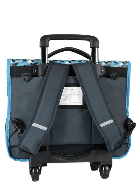 Cartable à Roulettes 3 Compartiments Cameleon Bleu new basic NBACA41R vue secondaire 5