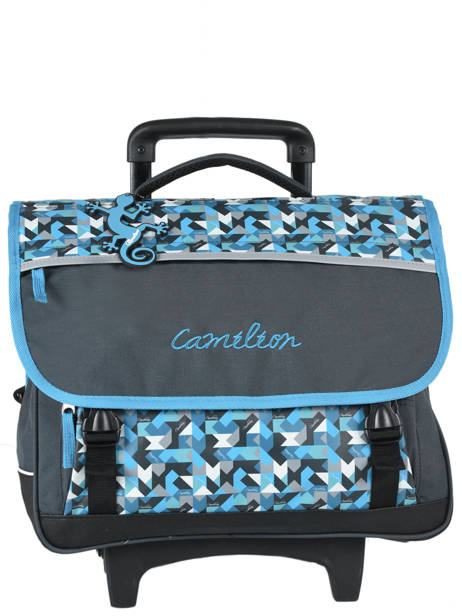 Cartable à Roulettes 3 Compartiments Cameleon Bleu new basic NBACA41R