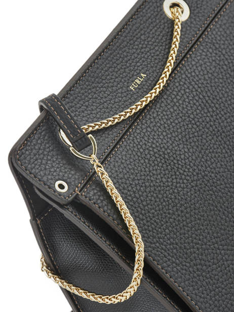 Shoulder Bag Like Leather Furla Black like LIK-BQA2 other view 2