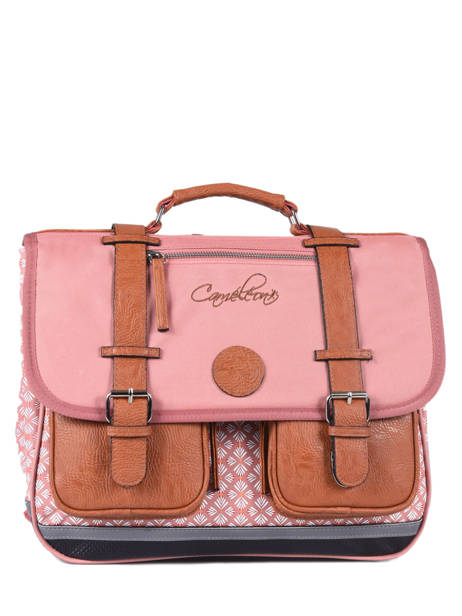 Cartable 2 Compartiments Cameleon Rose vintage VINCA38