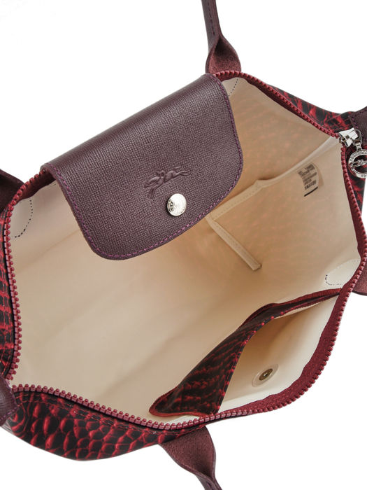 Longchamp Le pliage croco Besaces Rouge