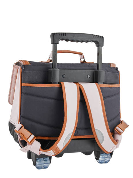 Wheeled Schoolbag With Matching Pencil Case Tann's Pink iconic 18-42123 other view 4