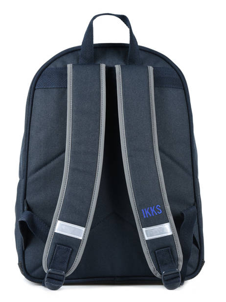 Backpack 2 Compartments Ikks Blue flight 18-63842 other view 3
