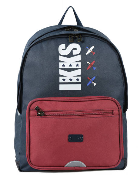 Backpack 2 Compartments Ikks Blue flight 18-63842