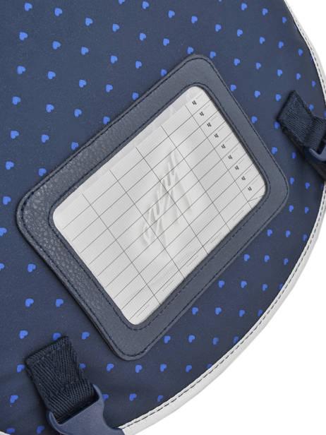 Cartable à Roulettes 2 Compartiments Ikks Bleu oh my captain 18-42822 vue secondaire 4