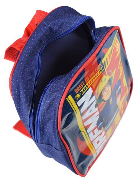 Backpack Mini Sam le pompier Blue brave 64360BRV other view 3
