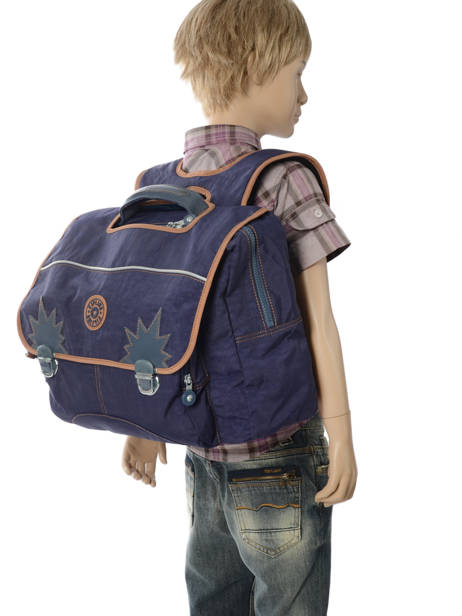 Satchel 2 Compartments Kipling Blue back to school 21092 other view 3