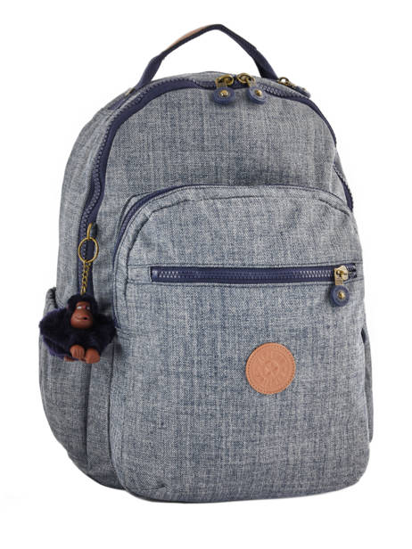 Backpack 1 Compartment + 15'' Pc Kipling Blue back to school 21316